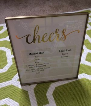 Wedding Decor Cheer Photo Frame for Sale in Waltham, MA