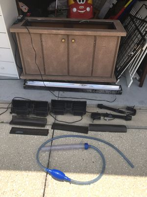 Fish tank stand on wheels and storage under. for Sale in Wesley Chapel, FL