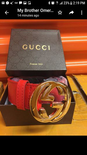 Red & gold Gucci belt for Sale in West Palm Beach, FL