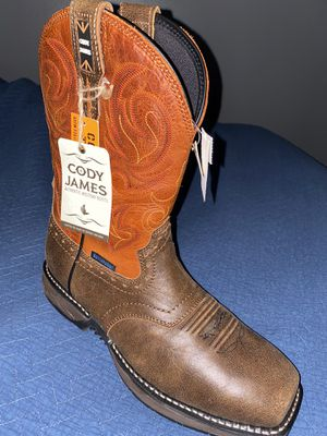 Cody james Work boots size 10 W for Sale in Salinas, CA