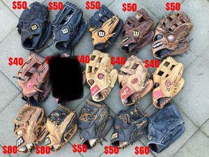 Baseball gloves equipment bats Rawlings easton mizuno demarini Wilson for Sale in Culver City, CA