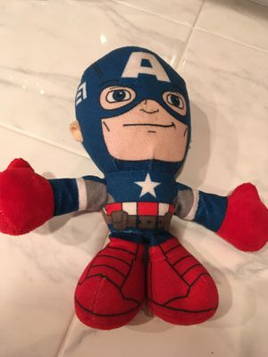 "8"" Captain America stuffed animal $4 for Sale in Menifee, CA"
