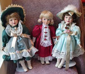 Ceramic Dolls (Set of 3) for Sale in Denver, CO