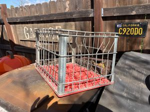 Vintage basket metal kart milk box for Sale in La Verne, CA