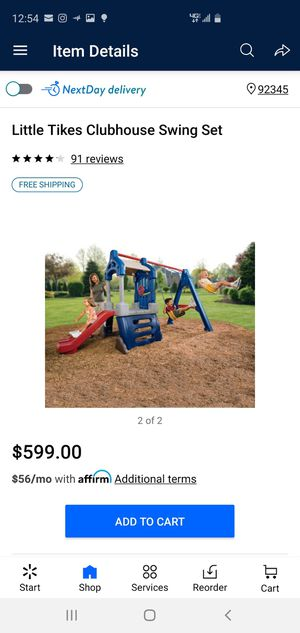 Little tikes club house swing set.. playground in good condition for Sale in Hesperia, CA