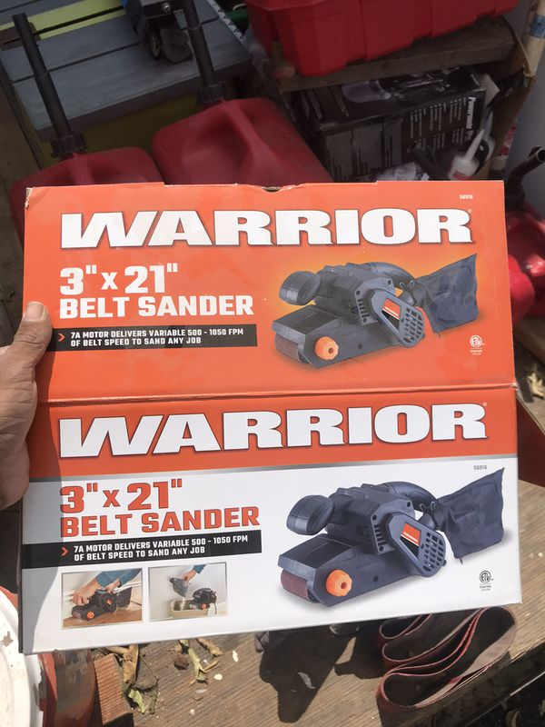 "Warrior 3x21"" belt sander"