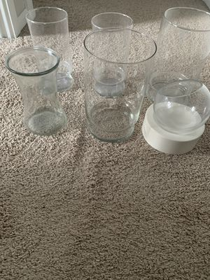 Assortment of 6 glass vases for Sale in Bothell, WA