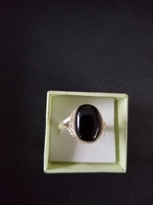 2.5 Gm Black 0nyx 925 Sterling Silver Plated Ring 12, 11.5, 9.5, 8 for Sale in Mount Dora, FL