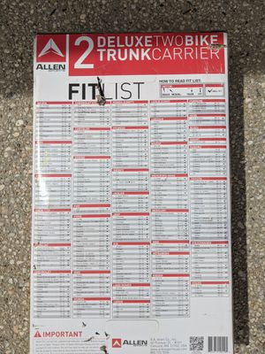 Allen Sports Bike trunk rack for Sale in Gaithersburg, MD