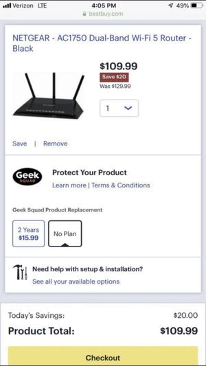 Netgear 1750 Smart WiFi Router for Sale in San Diego, CA