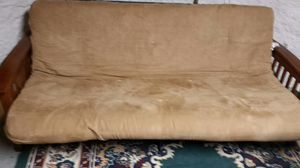 Fold out futon . Minor scratches on arm rests! Clean mattress and excellent frame for Sale in North Ridgeville, OH