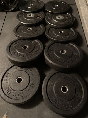 Rogue bumper weights plates for Sale in Hemet, CA