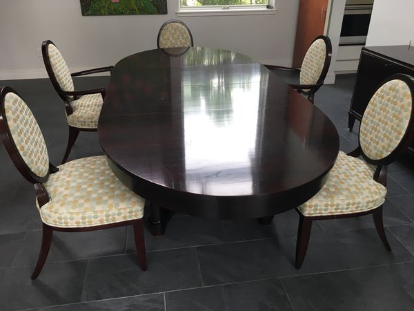 Barbara Barry Baker Collection Dining Table And 5 Dining Chairs 500 For Sale In Corpus Christi Tx Offerup