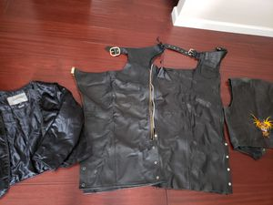 Motorcycle riders chaps & vest for Sale in Escondido, CA