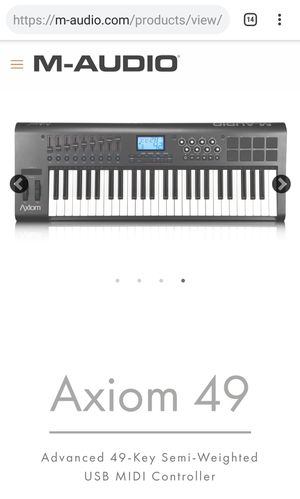 Pro Keyboard M-Audio Axiom-49 for Sale in Colorado Springs, CO