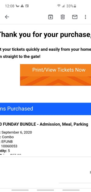 Cedar Point amusement park (5 tickets) for Sunday the 6th for Sale in Chicago, IL