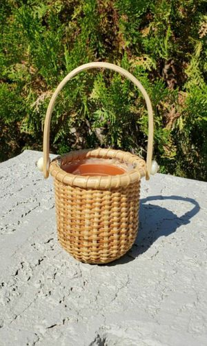 Small Wicker Basket Plant Holder for Sale in Goodyear, AZ