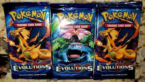 Pokemon Sealed EvolutionS 10 Card Booster Packs for Sale in Dayton, OR