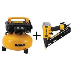 Dewalt 6 Gal Tank Air Compressor With Nailer for Sale in Tracy,  CA