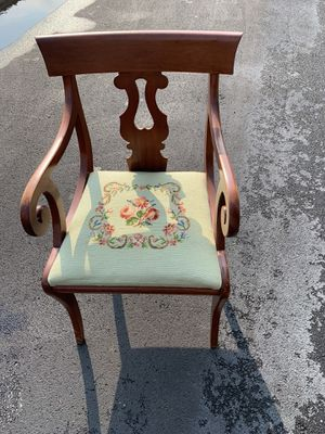 Needlepoint chair for Sale in Bellefonte, PA