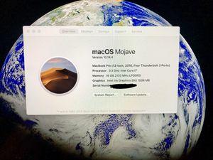 Macbook pro 2016 13inch for Sale in Lynnwood, WA