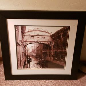 Matted & Glass Framed Beautiful Channel Of Water Picture for Sale in Livermore, CA