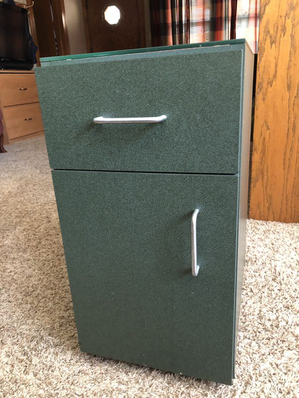 Side of couch remote and other storage cabinet for Sale in ...