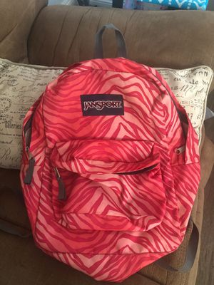 Pink zebra striped jansport backpack for Sale in San Diego, CA