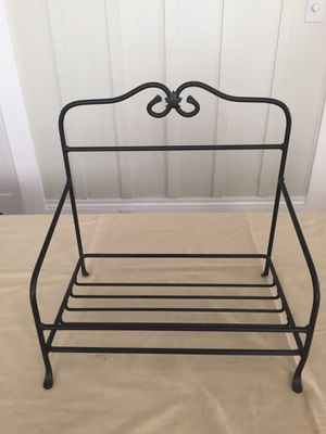 Longaberger Wrought Iron Magazine Basket Stand for Sale in Alameda, CA