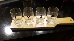 Beer flight including paddle and 4 glasses - unused! for Sale in Washington, DC