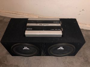 """12"""" JL Audio W3 V2 Subwoofers with Ported box and 850w 2 Channel Almani Amp for Sale in Las Vegas, NV"""