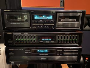 Onkyo Cassette tape recorder and 6-disc CD player for Sale in HOFFMAN EST, IL