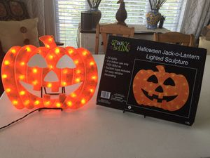 Halloween Jack-O-Lantern Lighted Sculpture for Sale in Leesburg, VA