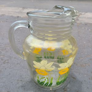 Sunflower Glass Retro Pitcher in Santee for Sale in Santee, CA
