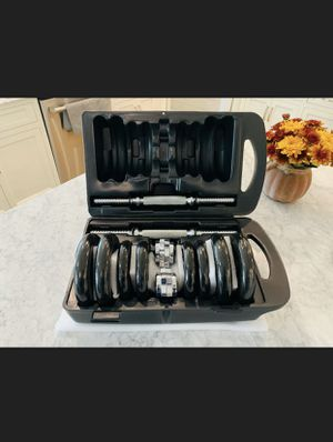 Amazon basics adjustable weights with suit case 38 lbs for Sale in Brooklyn, NY