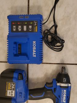 """Kobalt 1/2"""" Impact Plus Battery And Charger FIRM for Sale in Norwalk,  CA"""