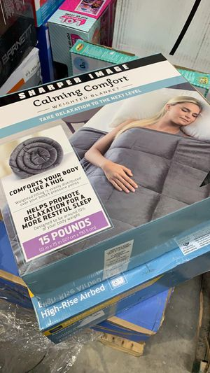 Calming Comfort Weighted Blanket Choose Your Weight - As Seen on TV Gray - 15 lbs for Sale in Stafford, TX