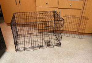 Double-Door Large Folding Wire Dog Crate with Divider and no Tray for Sale in Burbank, CA