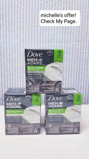 Dove Men care body +face bar set 3ct for Sale in Temple Hills, MD