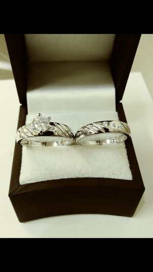 New with tag Solid 925 Sterling Silver ENGAGEMENT WEDDING Ring Set size 6 / 7 or 8 $150 each set OR BEST OFFER **FOR CHRISTMAS WE SHIP!!📦📫** for Sale in Phoenix, AZ