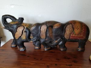Antique Wooden Elephant for Sale in Seaside, CA