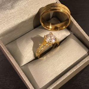 🤵👰💍 18K Gold plated Matching Ring Set - Solitaire / Circle Styles 🤩 for Sale in San Jose, CA
