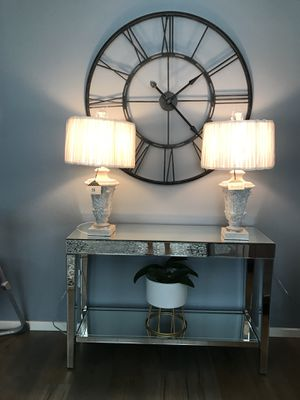 Two beautiful brand new lamps ! About 25 in H white shade for Sale in Vancouver, WA