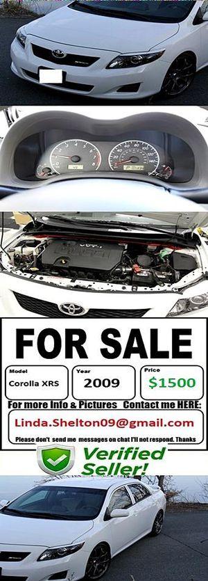 CLEAN2OO9 Toyota CorollaXRS Greatshape for Sale in Denver, CO