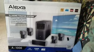 Alexa acoustica 5.1 home theater system for Sale in Tampa, FL