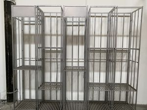 All metal Display case / Book case / show case / Retail case / trade show - 5 available - excellent condition - stores flat - price for all units - for Sale in Ontario, CA
