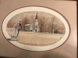 """P Buckley Moss """"Love at St Mary's"""" for Sale for sale  Moseley, VA"""