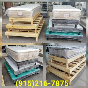 **Brand New Wooden Bed Frames** (All Sizes Vary On Price) for Sale in El Paso, TX