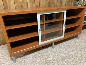 Entertainment Unit - Maple Wood + Glass Door for Sale in Annandale, VA