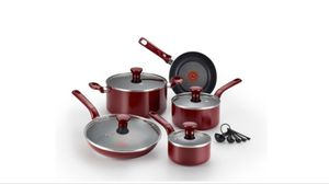 T-Fal Excite Red 14 Pc. Cookware Set 20595 for Sale in Woodbridge Township, NJ